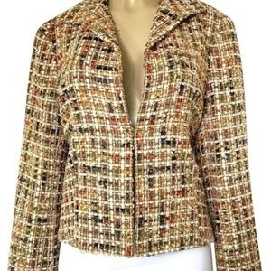 Lafayette 148 Wool Tweed Boucle Blazer Jacket